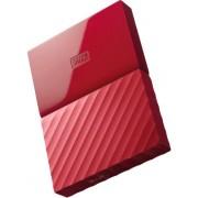 HDD Extern Western Digital My Passport NEW, 2TB, 2.5 inch, USB 3.0 (Rosu)