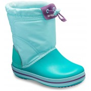 Crocs tyrkysové sněhule Crocband Lodgepoint Boot Ice Blue/Tropical Teal - 30/31