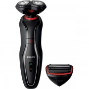 Aparat de barbierit Philips Click And Style S728/17, 2 in 1, Fara fir, 40 minute, Negru/Rosu