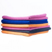4cx Microfiber Ultra Fast Drying Car Dusting and Cleaning Towel Cloth Wet and Dry Microfibre Cleaning Cloth (Pack of 6