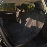 vidaXL háziállat hátsó autós üléshuzat 148x142 cm fekete