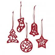 Ornamente pentru Craciun - Set 5 bucati, pasla