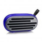 Outdoor Portable Stereo Wireless Bluetooth Speaker Support TF Card AUX Play - Blue
