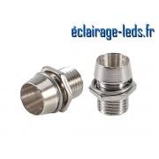 10 Supports en métal pour LED de 5 mm de diamètre ref ld-16