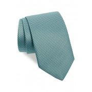 Eton Geometric Silk Tie GREEN