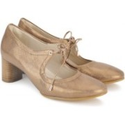 Clarks Grace Isla Bronze Leather Bellies For Women(Bronze)