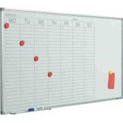 Planner saptamanal, 60 x 120 cm, profil aluminiu SL, SMIT