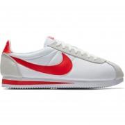 Tenis Running Hombre Nike Classic Cortez-Blanco Con Rojo