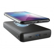 Power Bank, Trust Primo, 20000mAh, Wireless Charging, Black (23565)