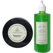 Khadi Pure Aloevera Neem Basil Facial Massage Gel and Aloevera Gel Combo (600g) Pack 2