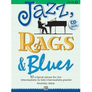 Jazz, Rags & Blues, Book 3: 10 Original Pieces for the Intermediate to Late Intermediate Pianist [With CD (Audio)], Paperback