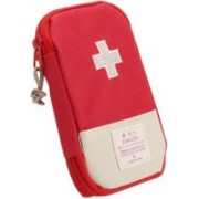 ClickUS Mini Small First Aid Kit Travel Pouch Medicine Storage Bag(Red)