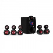 Auna X-Gaming Système audio Surround 5.1 Subwoofer OneSide Bluetooth USB SD 380W