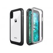 Etui Alogy pancerne rugged Full-body do Apple iPhone X/XS Szaro-czarne