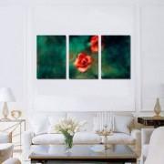 Tablou Canvas Premium Abstract Multicolor Flori Rosii Decoratiuni Moderne pentru Casa 3 x 70 x 100 cm