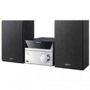 Sony Stereo systém Sony CMT-SBT20, AUX, Bluetooth, CD, NFC, FM, USB, černá, stříbrná