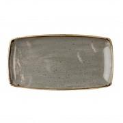 Churchill Super Vitrified Churchill Stonecast Rectangular Plate Peppercorn Grey 350 x 185mm