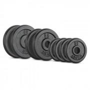IPB 20 kg Conjunto de Placas de Peso 4 x 1,25 kg + 2 x 2,5kg + 2 x 5kg 30mm