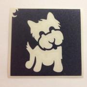 Testfestő sablon Kutya 6x6 cm Csillámtetoválás