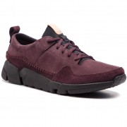 Sneakersy CLARKS - Triactive Run 261390457 Aubergine Nubuck