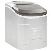 vidaXL Aparat de făcut cuburi de gheață, argintiu 2,4 L, 15 kg / 24 h