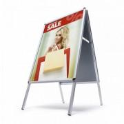 Jansen Display interiérové reklamní áčko A2 oblý roh profil 25 mm