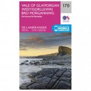 Ordnance Survey Vale Of Glamorgan Carta escursionistica