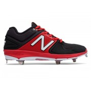 New Balance Low-Cut 3000v3 Metal Baseball Cleat Black with Red
