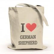I Love German Shepherd Tygpåse