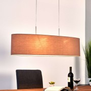Pendant lamp Finn with shade in cappuccino