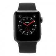 Apple Watch Series 3 carcasa de aluminiogris 42mm con con correa deportiva negro