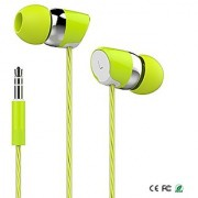 EAR PHONE/Head phones!Bullet Head Champ earphone with Mic - for Music and Calls EZ197-GREEN