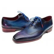 Paul Parkman Wingtip Oxford Shoes Blue & Purple 084VX55