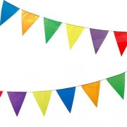 Baker Ross Bunting - 25 triangular plastic flags in assorted colours. Ideal for fetes, parties and bazaars