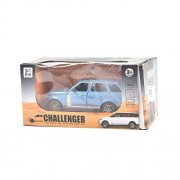 IGP Challenger Range Rover 1:32 Scale Pull Back Diecast Blue Toy Car for Kids with Light and Sound