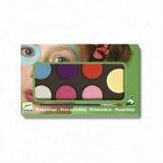 Set Pictura pe fata machiaj copii - 6 culori non alergice Djeco Pastel