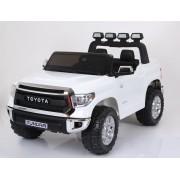 Mașinuță electrică pentru copii Toyota Tundra Albă 2.4Ghz, 2x Motoare, Telecomandă, două scaunde din piele, roți ușoare EVA, licență originală Toyota