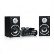 Auna Karaoke Star 3, караоке комплект, 2 x 75 W max., BT, USB порт, Line-In, 2 x безжични микрофон (JO2-Karaoke-Star 3)