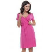 Tara kismama és szoptatós hálóing, rózsaszín L