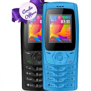 Combo of IKall K6610 (Dual Sim 1.8 Inch Display 800 Mah Battery Made In India Black and blue)