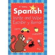 Spanish Write & Wipe Activity Books with Dry Erase Marker (Pack of 2)