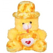 Cute beautiful yellowTeddy Bear with love heart Gift for kids Girls 52 CM