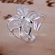 Dames Verlovingsring Verstelbaar Open Luxe Sieraden Kostuum juwelen Kristal Dierenvorm Vlinder Sieraden Voor Bruiloft Dagelijks