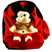 Jrp Mart Red Mickey Shoulder Bag Stuffed Soft Plush Toy Kids Birthday,Travelling Bag, Carry Bag, Picnic Bag, Teddy Bag (Red)
