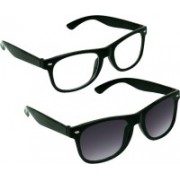 SPY RAYS COLLECTION Wayfarer, Wayfarer Sunglasses(Clear, Black)