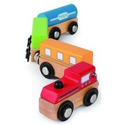 Hape - Qubes - Wooden Magnetic Classic Train Set