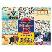 Melissa & Doug Resuable Sticker Pads Set: Adventure - 245+ Stickers