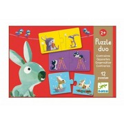 Djeco / 12 Duo Puzzles - Animals and Opposites