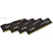 Kingston HX424C15FBK4/16 Hyper-x Fury 16GB (4Gb x 4) DDR4-2400 CL15 1.2v Desktop Memory Module