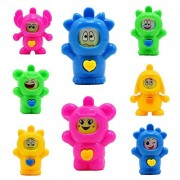 Kerocy 10pcs Change Face Toy Funny Mini PVC Action Figure Toys Lovely Dolls Puppets Gift